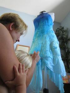 2013 FeltUnited inspired nuno felt dress