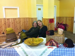 Nicola and Dawn at the Borris Food and Craft Market, Ireland.